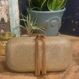 Sparkly gold clutch - perfect for night out